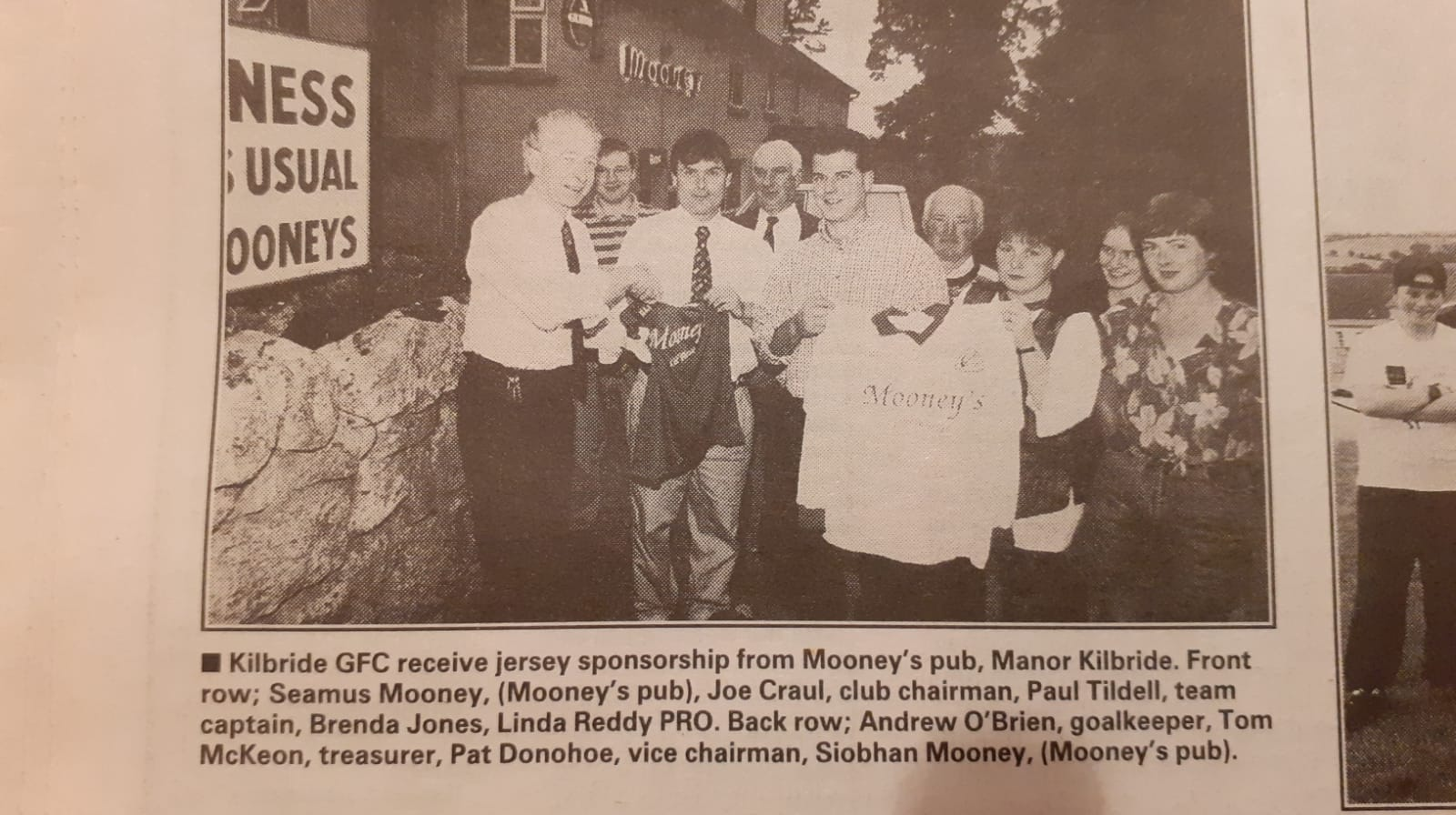 2001 Wicklow Team Mates Holding Their Jerseys
